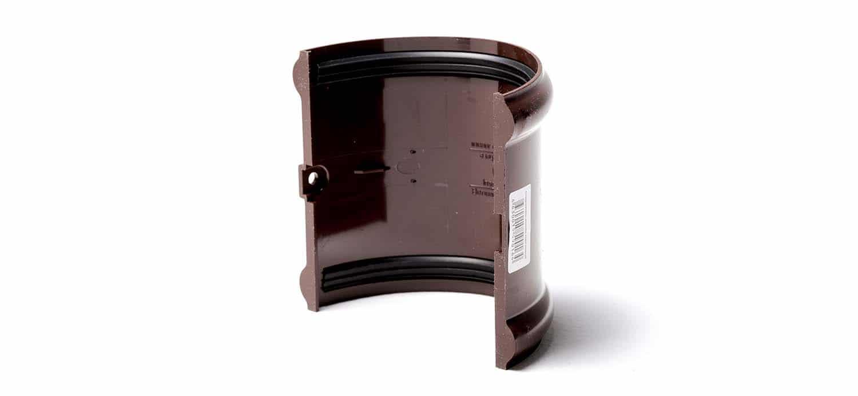 элементы водосточной системы, водосточная система каталог, соединитель желоба, соединитель желоба 125, соединитель водосточного желоба, соединитель желоба мп, соединитель желоба цена, соединитель желоба купить, соединитель желоба d125, соединитель желоба с резиновым уплотнителем, соединитель желобов водосточной системы, соединитель желоба мп диаметр 125 мм