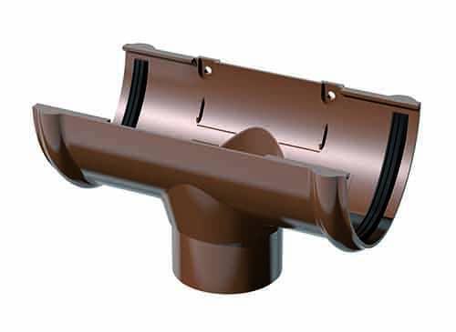 воронка желоба, водосток для крыши, воронка желоб коричневая
