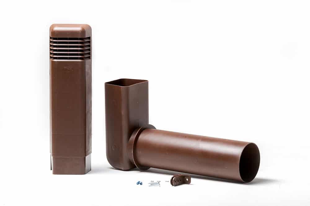 Цокольный дефлектор, цокольный дефлектор купить, цокольная вентиляция, цокольный дефлектор поливент в разборе, выход канализационной трубы