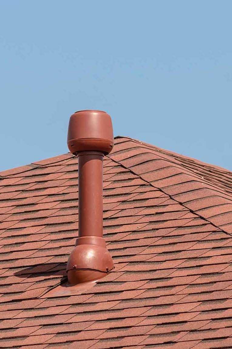 вентиляция в частном доме, вентиляционный выход, проходной элемент поливент, колпак вентиляция