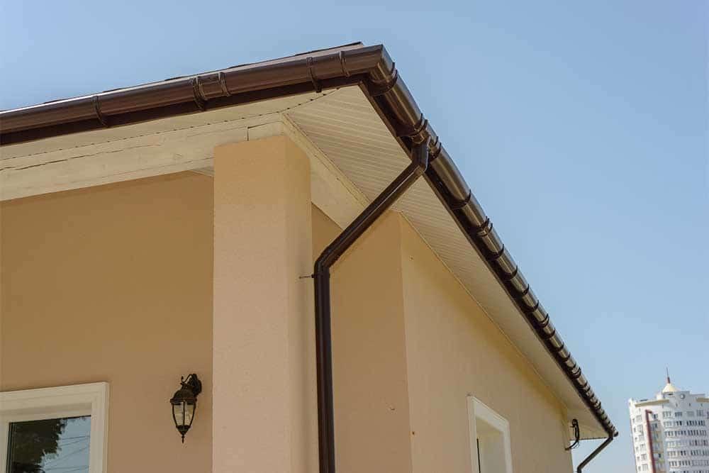Строительная комплектация, водосточная система, Polivent, пластиковый водосток, водосток для частного дома, купить водосток