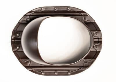 Проходной элемент для металлопрофиля PROF-35 коричневый