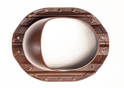 Проходной элемент для металлопрофиля PROF-35 красный