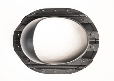 Проходной элемент для металлопрофиля PROF-35 серый