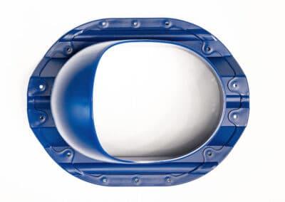 Проходной элемент для металлопрофиля PROF-35 синий