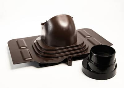 Проходной элемент для металлочерепицы коричневый UNIVERSAL