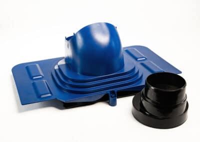 Проходной элемент для металлочерепицы синий UNIVERSAL
