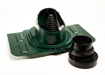Проходной элемент для металлочерепицы зеленый UNIVERSAL