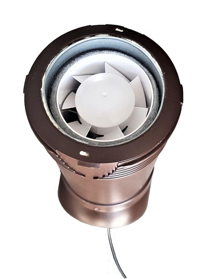вентвыход для частного дома с вентилятором